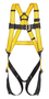 MSA Super X-Large Workman® Full Body Style Harness With Qwik-Fit™ Chest And Leg Strap Buckle And Back D-Ring
