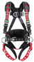 MSA Standard EVOTECH® Construction/Full Body Style Harness With Qwik-Connect Chest Strap Buckle, Tongue Leg Strap Buckle, Back And Hip D-Ring, Shoulder Padding And Integral Backpad