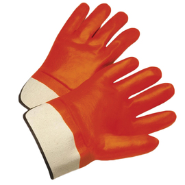 Radnor® Large Orange PVC Jersey Lined Cold Weather Gloves