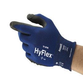 Ansell Size 6 HyFlex® Foam Nitrile Coated Work Gloves With Nylon And Spandex Liner And Knit Wrist