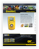 Gas Alert Extreme Datasheet cover page featuring a gas detection device.
