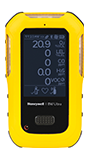 BW Technologies by Honeywell BW™ Ultra Portable Oxygen, Combustible Gas, Hydrogen Sulfide, Carbon Monoxide And Volatile Organic Compounds Multi Gas Detector against white.