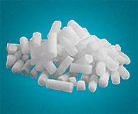 Dry Ice Standard Pellets on light teal background