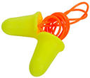 A pair of 3M Corded Earplugs against white.
