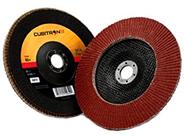 A 3M flap disc against white.