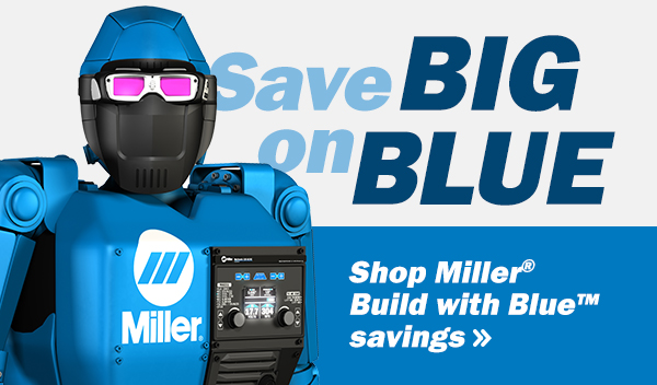 Build with Blue Winter Savings promotional banner.