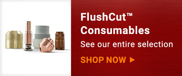 Link to shop Airgas' selection of FlushCut™ consumables on white background