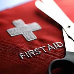 First Aid Kit and scissor