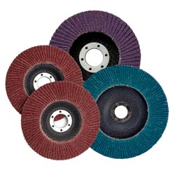 Flap Discs on white background