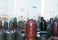 A collection of multi-colored cylinders.