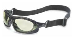 A pair of Honeywell Uvex Sealed Safety Eyewear against white.