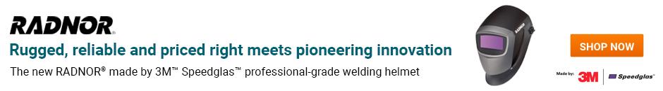 Shop the new RADNOR made by 3M Speedglas professional-grade welding helmet.