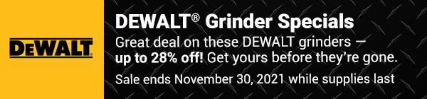 DEWALT Grinders offer professional concrete and metalworking users a wide range of choices. DEWALT 4 1/2