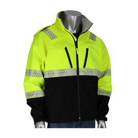 Protective Industrial Products 2X Hi-Viz Yellow/Black Ripstop Thermoplastic/Polyester/Fleece Jacket