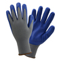 PIP® Large 13 Gauge Blue Nitrile Palm Finger And Knuckles Coated Work Gloves With Polyester Liner And Knit Wrist