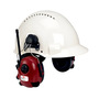 3M® Peltor™ Red Over-The-Head Hard Hat Mount Radio Earmuffs