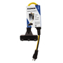 Radnor® 2' 15 A 125 VAC PVC Jacket Yellow Extension Cord With Ground Fault Circuit Interrupter (GFCI)