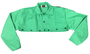Radnor® X-Large Green Cotton Fire Retardant Cape Sleeve With Snap Front Closure (Bib Not Included)