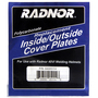 RADNOR® 90mm X 110mm 40VI Clear Polycarbonate Inside/Outside Cover Plate