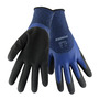 RADNOR® Large Blue And Black 15 Gauge Polyester 7 Gauge Acrylic Terry Lined Cold Weather Gloves With Double Dipped Latex 3/4 Coating
