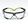 3M™ SecureFit™ Black And Green Safety Glasses With Clear Anti-Fog Lens