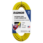 Radnor® 25' 15 A 125 VAC PVC Jacket Yellow Extension Cord