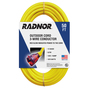 RADNOR® 50' 15 A 125 VAC PVC Jacket Yellow Extension Cord