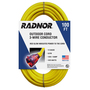 Radnor® 100' 15 A 125 VAC PVC Jacket Yellow Extension Cord