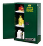 Justrite™ 60 Gallon Green Sure-Grip® EX 18 Gauge Cold Rolled Steel Safety Cabinet With (2) Manual Close Doors And (2) Adjustable Shelves (For Pesticides)