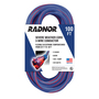 Radnor® 100' 15 A 125 VAC TPE Jacket Blue/Red Extension Cord