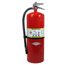 Amerex® 20 Pound ABC Dry Chemical 10A:120B:C High Performance Compliance Flow Fire Extinguisher For Class A, B And C Fires With Chrome Plated Brass Valve, Wall Bracket, Hose And Nozzle