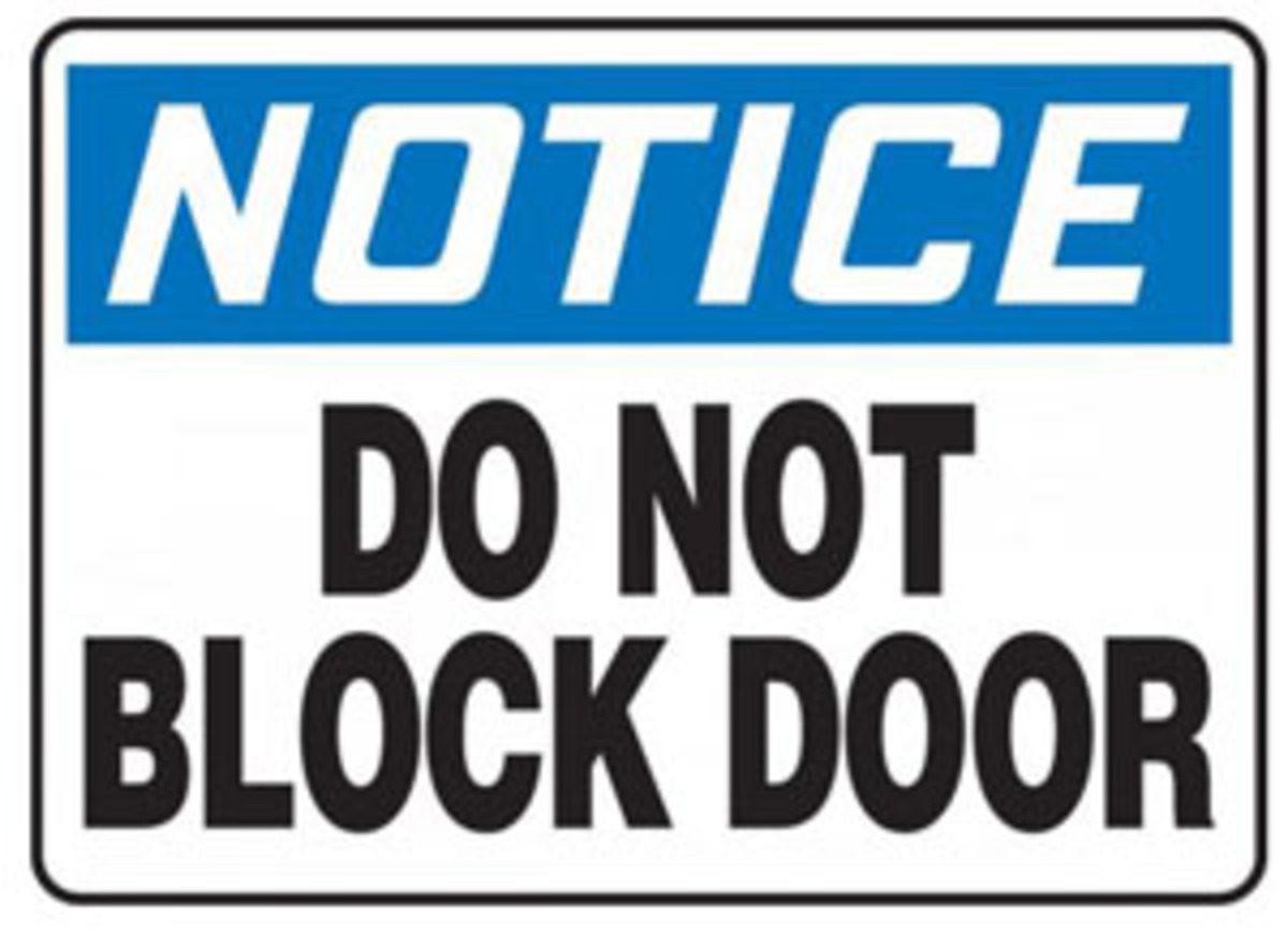 Do Not Block Door : Airgas a mabr vp accuform signs quot