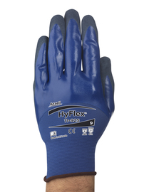 Ansell Size 9 HyFlex® 18 Gauge Nitrile 3/4 Dip Coated Work Gloves With Nylon And Spandex Liner And Knit Wrist
