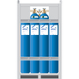 ARCAL™ M12 He90 Shielding Gas Mixture 2.5% Carbon Dioxide, 7.5% Argon, Balance Helium, Size 300 High Pressure Steel Cylinder, 12-Pack, CGA-580