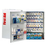 First Aid Only® White Metal Wall Mount 200 Person SmartCompliance® First Aid Cabinet With Medicinals