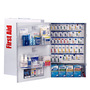 First Aid Only® White Metal Wall Mount 200 Person SmartCompliance® Food Service First Aid Cabinet With Medicinals