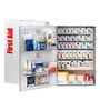 First Aid Only® White Metal Wall Mount 200 Person SmartCompliance® Food Service First Aid Cabinet