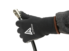 Ansell Large Black ActivArmr® PVC Acrylic/Nylon Lined Cold Weather Gloves