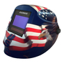 RADNOR® LITE 60 Blue/White/Red Welding Helmet With 5