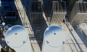 A birds-eye view of an Airgas FLOXAL on-site nitrogen generation station.