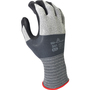 SHOWA® Size 7 13 Gauge Black Foam Nitrile Work Gloves With Microfiber/Nylon Liner And Knit Wrist