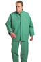 Dunlop® Protective Footwear X-Large Green Chemtex .42 mm Nylon, Polyester And PVC Bib Overalls With Storm Flap Over Front Zipper Closure