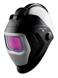 3M™ Speedglas™ Welding Helmet 9100 QR, 06-0100-10QR, with Auto-Darkening Filter 9100V and Hardhat, H-701R