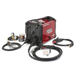 Lincoln Electric® Power MIG® 210 MP MIG Welder 120/230 Volt WIth Magnum® PRO 175L Gun With 10' Cable, Input Cables, Work Cable And Clamp, Electrode Holder With Lead, Regulator And Hose, Nozzles, Liner, Spindle Adapter, Drive Rolls, Screen Shield And Sample Wire