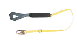 MSA 6' ArcSafe® 1 3/4'' Nylon Web Single Leg Energy-Absorbing Adjustable Lanyard With Hitch Loop Harness Connection And 36C Snap Hook Anchorage Connection | Tuggl