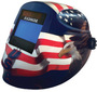 RADNOR® RDX60 Blue/Red/White Welding Helmet With 5
