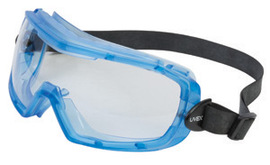 Honeywell Uvex Entity™ Indirect Vent Chemical Splash Impact Goggles With Blue Frame And Clear Uvextra® Anti-Fog Lens