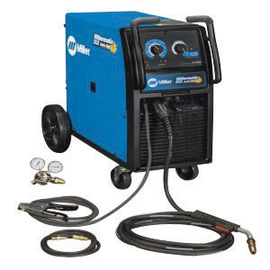 Miller® Millermatic® 212 Auto-Set™ MIG Welder 200/208/230Volt With M-25 MIG Gun With 15' Leads, Regulator And Hose, 7' Power Cord With Plug And Factory-Installed Running Gear/Cylinder Rack