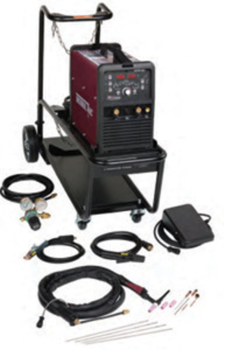 tacw thermal arc reg ac dc tig welder  thermal arcreg 186 ac dc tig welder 208 230 volt foot