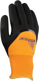 Ansell Size 8 Hi-Viz Orange And Black ActivArmr® 97-011 Acrylic And Polyester Acrylic Terry Lined Cold Weather Glove With Knit Wrist, Nitrile Coating And Sandy Finish